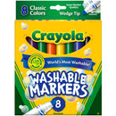 Crayola 8 ct. Ultra-Clean Washable, Wedge tip, Color Max Markers