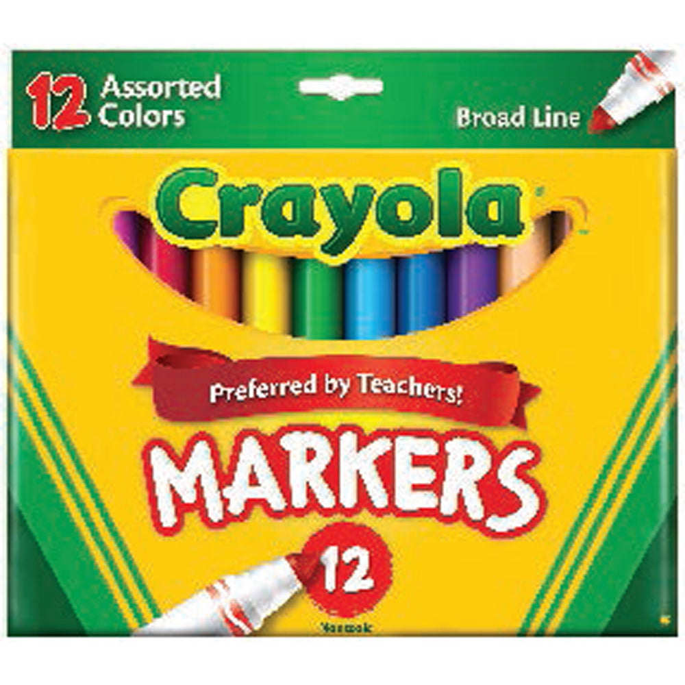Crayola 12 ct. Assorted, Broad Line Markers.