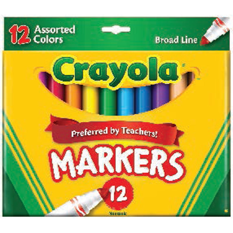 Crayola 12 ct. Assorted, Broad Line Markers