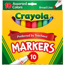 Crayola 10 ct. Assorted, Broad Line  Markers