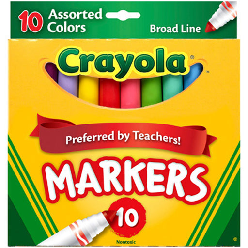 Crayola 10 ct. Assorted, Broad Line  Markers.