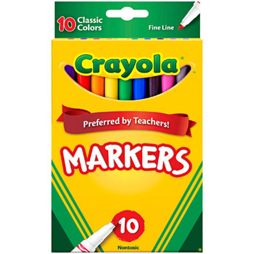 Crayola 10 ct. Classic, Fine Line, ColorMax Markers.