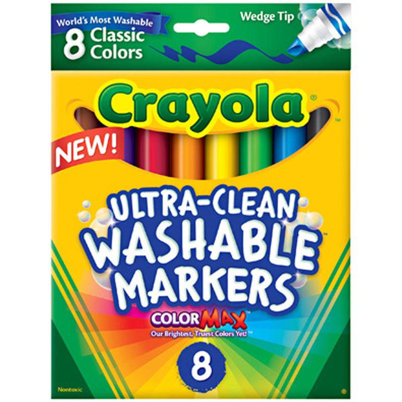 Crayola 8 ct. Ultra-Clean Washable Classic, Broad Line, Color Max Markers.