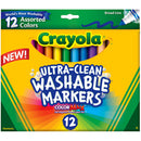 Crayola 12 ct. Ultra-Clean Washable Assorted, Broad Line, ColorMax Markers