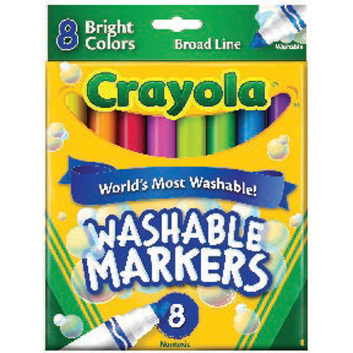 Crayola 8 ct. Ultra-Clean Washable Bright, Broad Line, Color Max Markers.