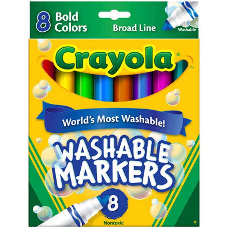 Crayola 8 ct. Ultra-Clean Washable Bold, Broad Line, Color Max Markers