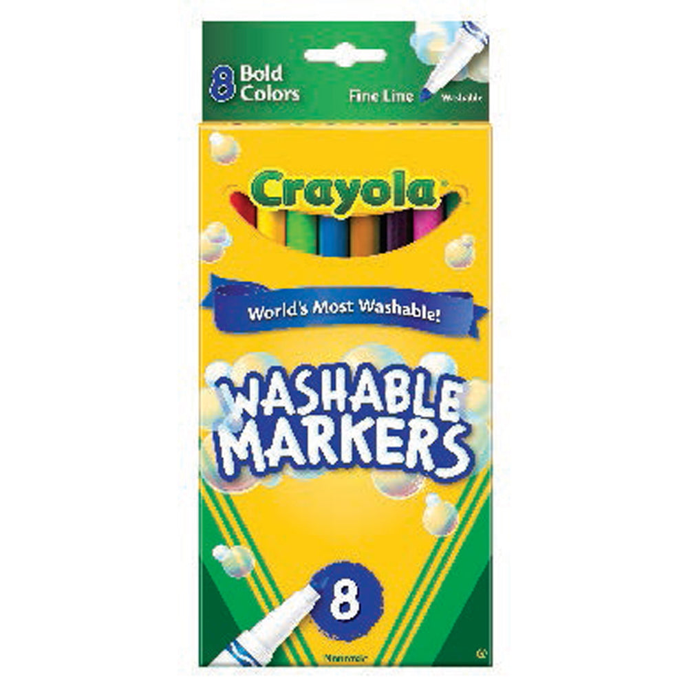 Crayola 8 ct. Ultra-Clean Washable Bold Colors, Fine Tip, Color Max Markers.