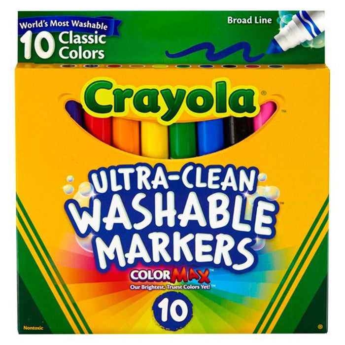 Crayola 10 ct. Ultra-Clean Washable Classic, Broad Line Color Max Markers.