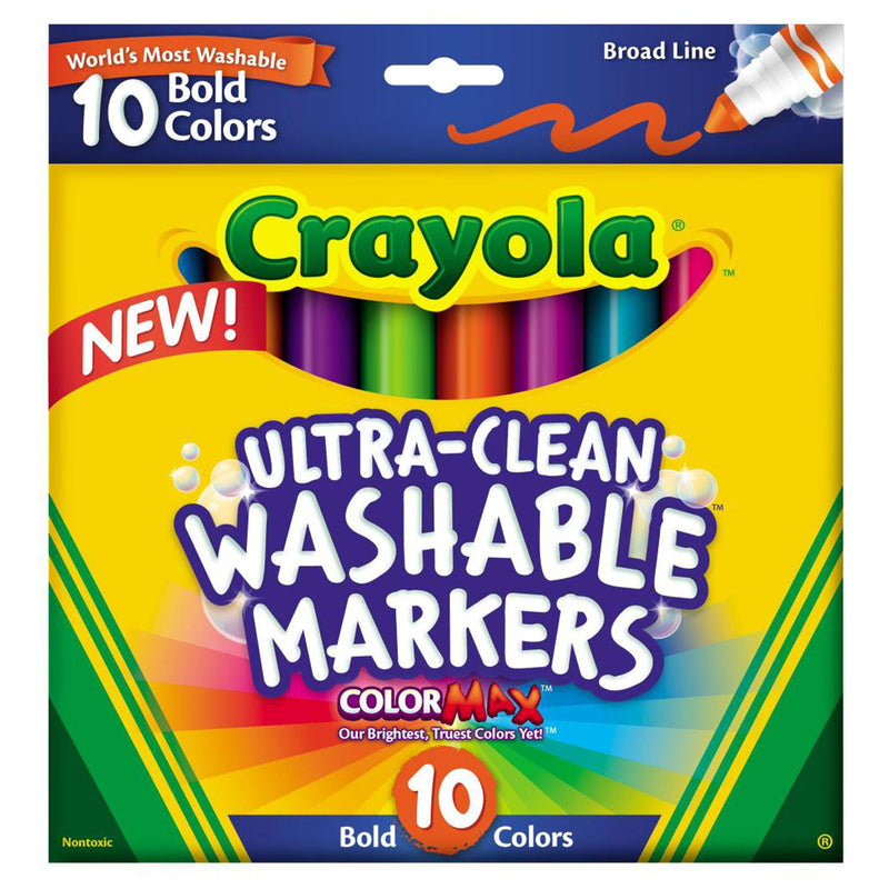 Crayola10 ct. Ultra-Clean Washable Bold, Broad Line, Color Max Markers