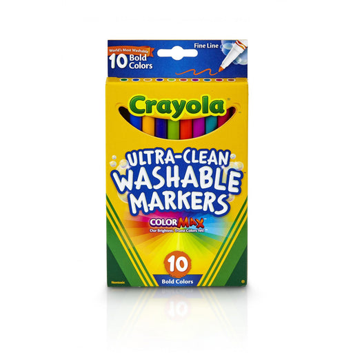 Crayola 10 ct. Ultra-Clean Washable Bold, Fine Line, Color Max Markers.