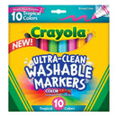 Crayola 10 ct. Ultra-Clean Washable Tropical, Broad Line, Color Max Markers