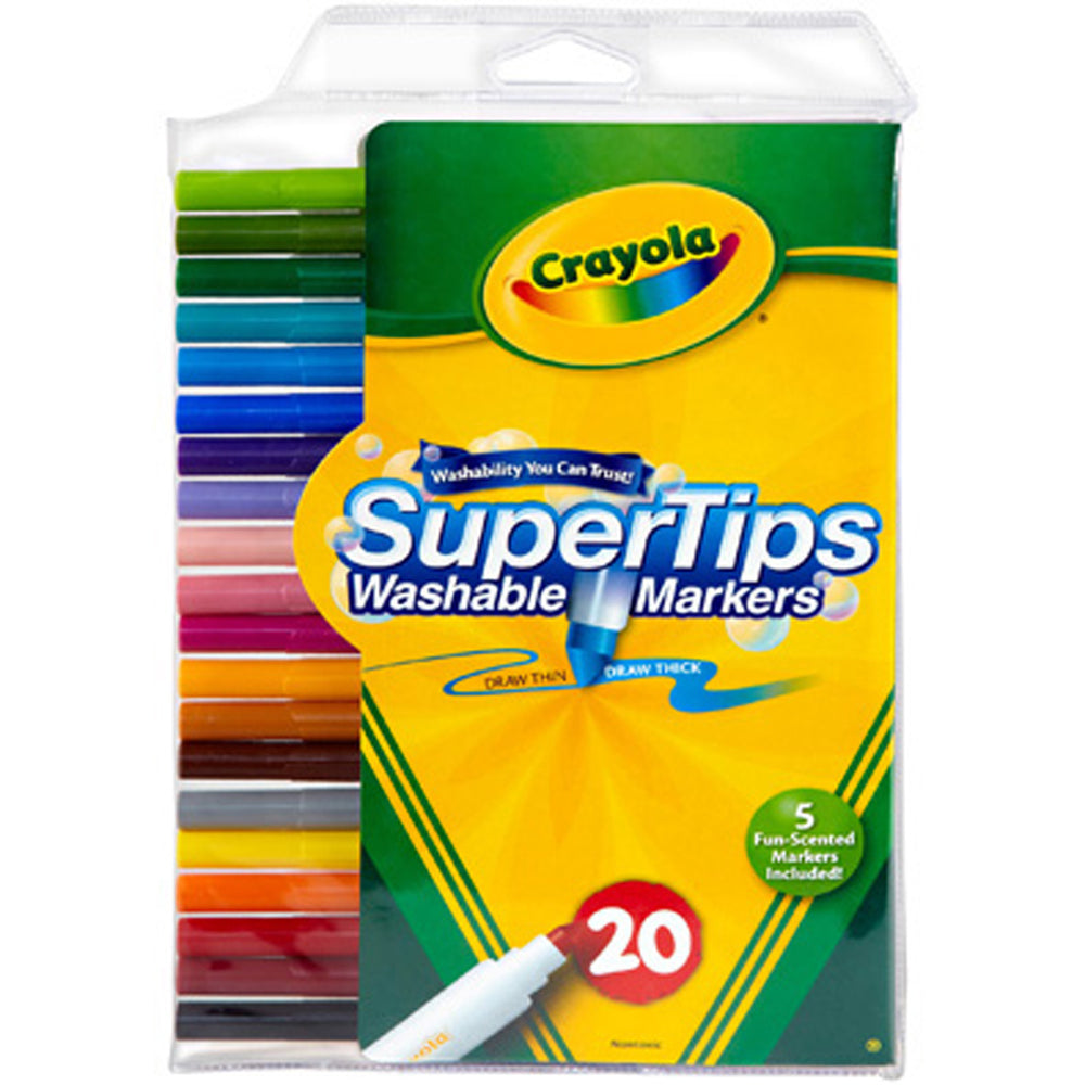 Crayola 20 ct. Washable Super Tips Markers.