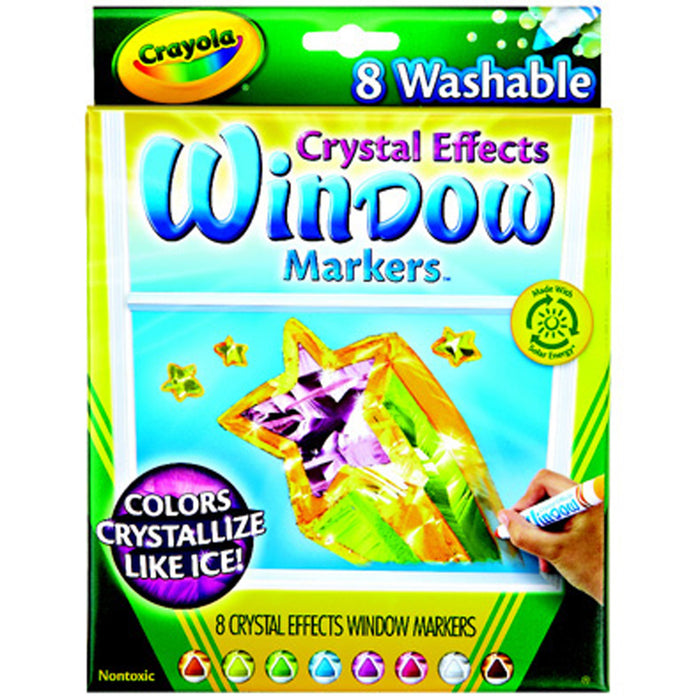 Crayola 8 ct. Washable Crystal Effects Window Markers.