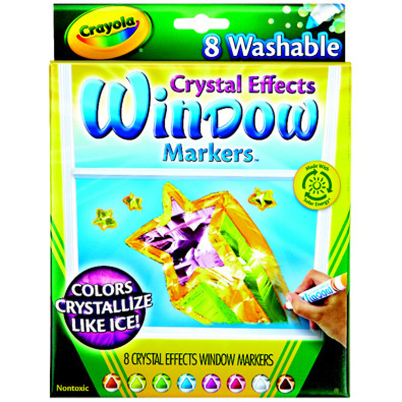 Crayola 8 ct. Washable Crystal Effects Window Markers