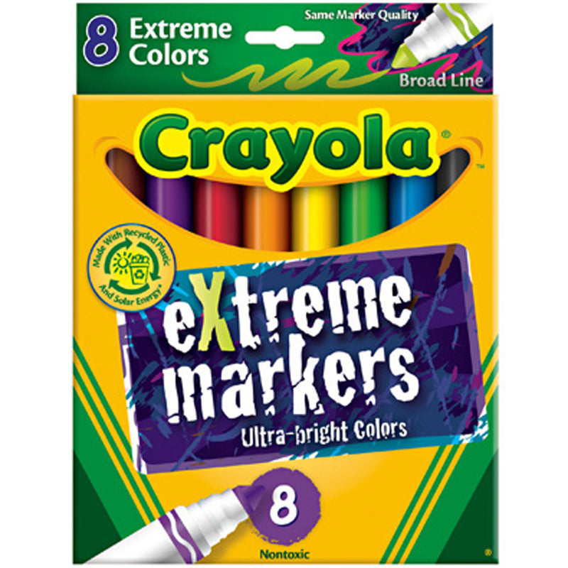Crayola 8 ct. eXtreme, Broad Line Markers
