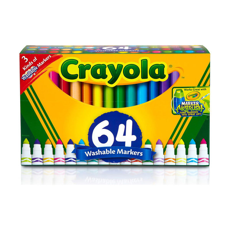 Crayola 64 ct. Ultra-Clean Washable, Broad Line Markers, Variety Pack