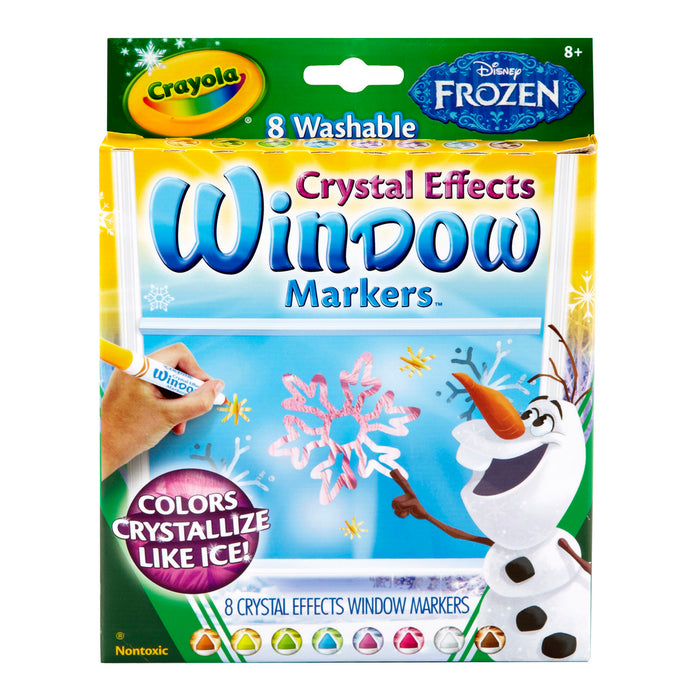 Crayola 8 ct. Washable Crystal Effects Window Markers, Disney Frozen.