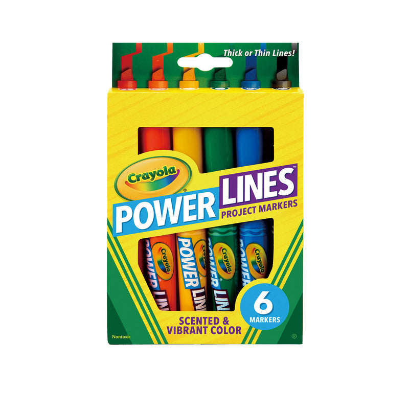 Crayola 6 ct. Washable Scented Power Lines Markers