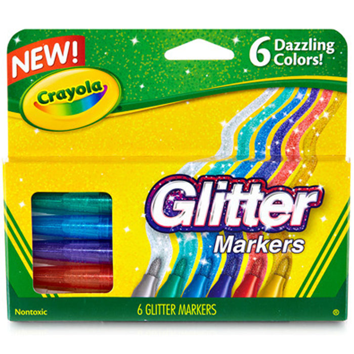 Crayola 6 ct. Glitter Markers.
