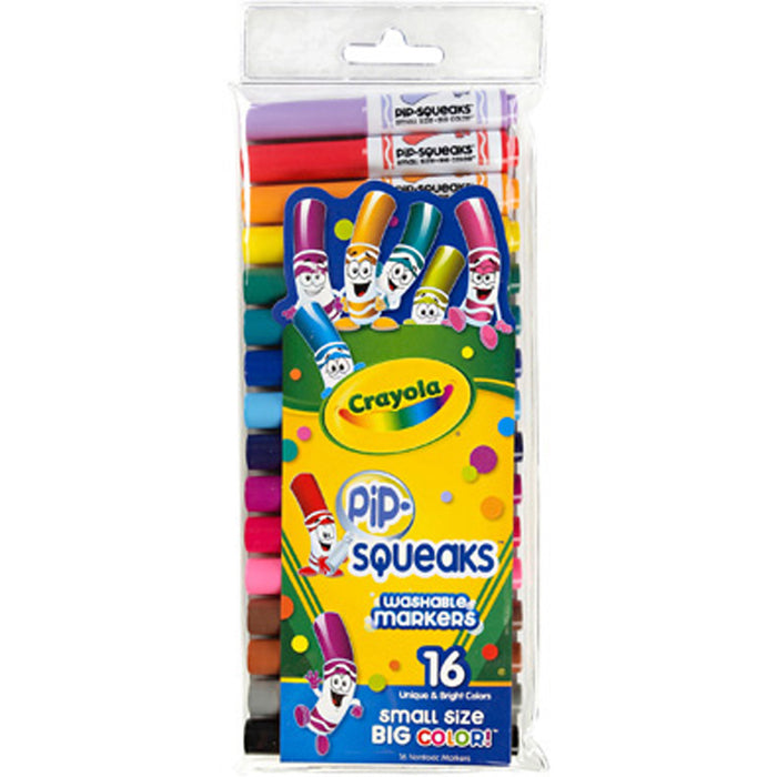 Crayola 16 ct. Washable Pip-Squeaks Markers.