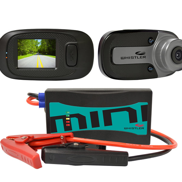 Whistler MINI Jump Starter and Dashcam Package