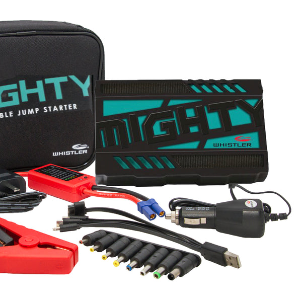 Whistler MIGHTY Jump Starter and Laser Radar Detector Package