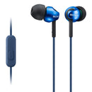 Sony EX110AP - Earphones with mic - in-ear - wired - 3.5 mm jack - blue