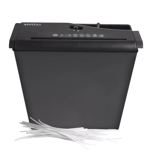 Vivitar 6-Page Strip-Cut Paper Shredder w/Jam Prevention