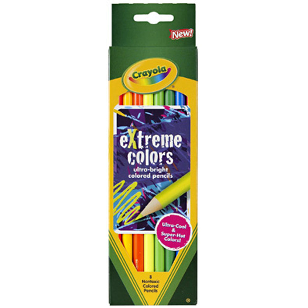 Crayola 8 ct. eXtreme Colors Pencils.