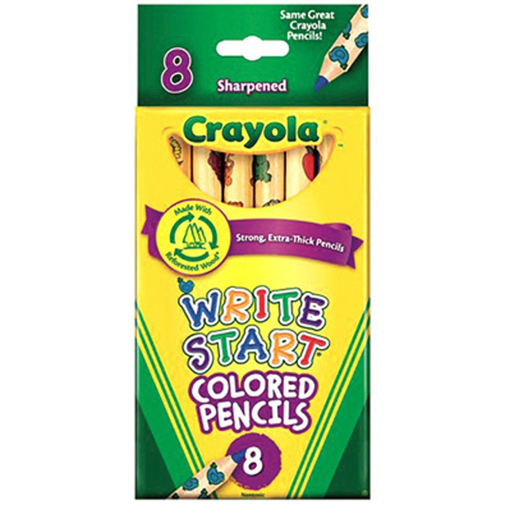 Crayola 8 ct. Write Start Colored Pencils.