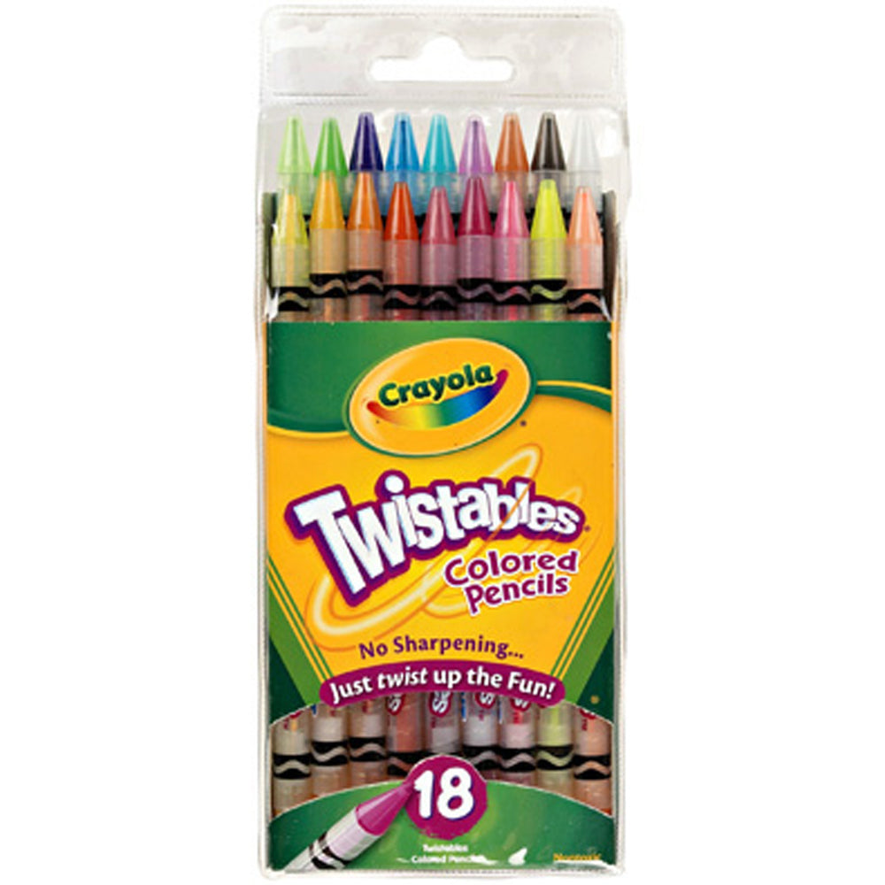 Crayola 18 ct. Twistables Colored Pencils.