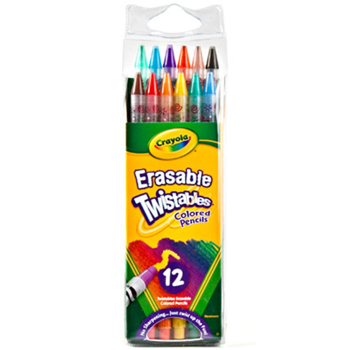 Crayola 12 ct. Erasable Twistables Colored Pencils.