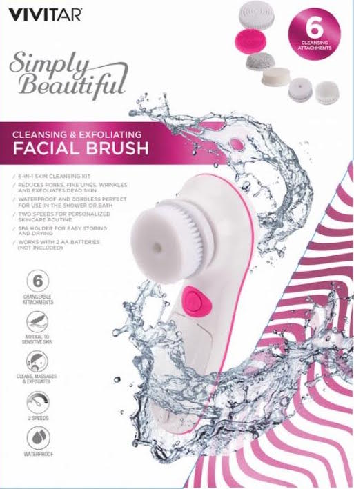 Vivitar Power Cleansing and Exfoliating Facial Brush