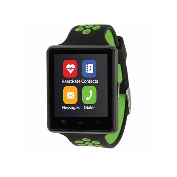 iTouch Wearables 45mm Air 2 Smart Watch Perforated - (Black and Green)