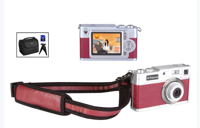 Polaroid 18.1MP HD Digital Camera with carrying case, 8GB SD Card and Folding Tripod END OF LIFE