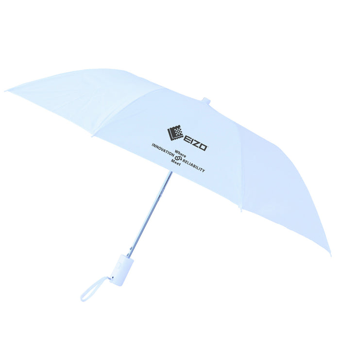 Auto Compact Umbrella White