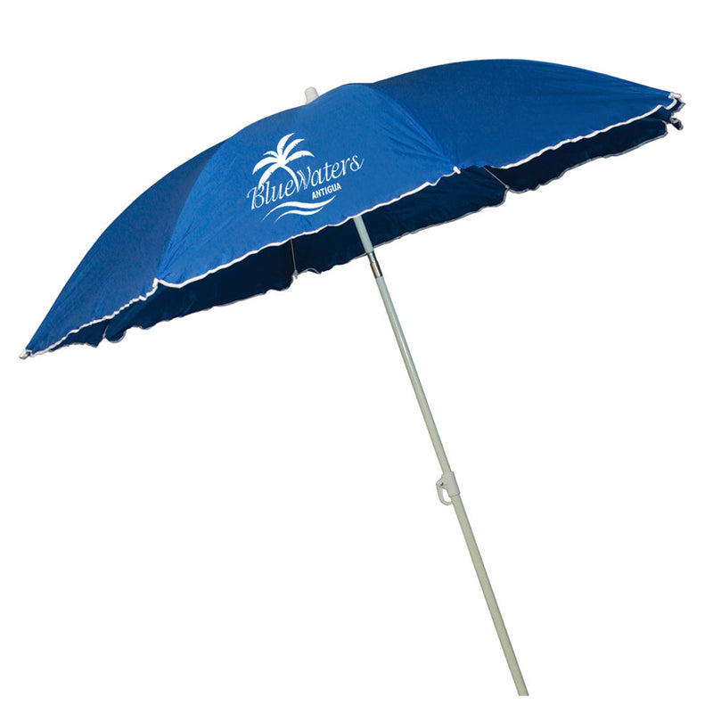 "70"" Blue Beach Umbrella"