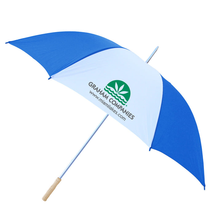 "60"" Windproof Umbrella Blu/Wht"
