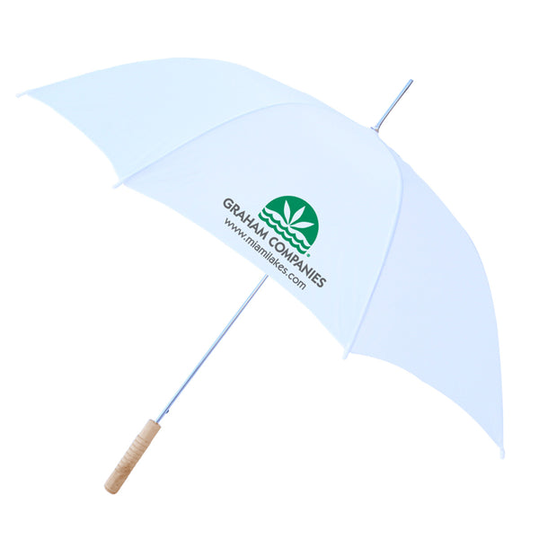 "60"" Windproof Umbrella All Wht"