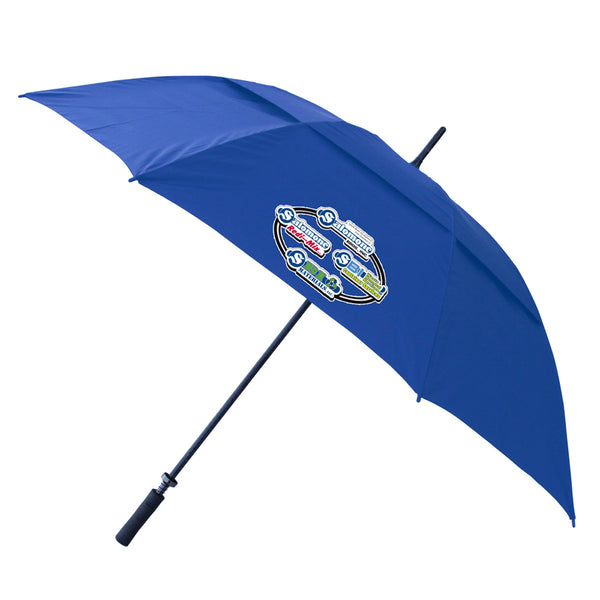 Fiberglass Shaft Vented Umbrella Blue
