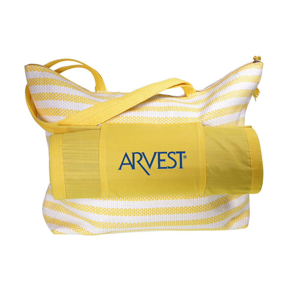 Beach Bag with Mat - Yellow