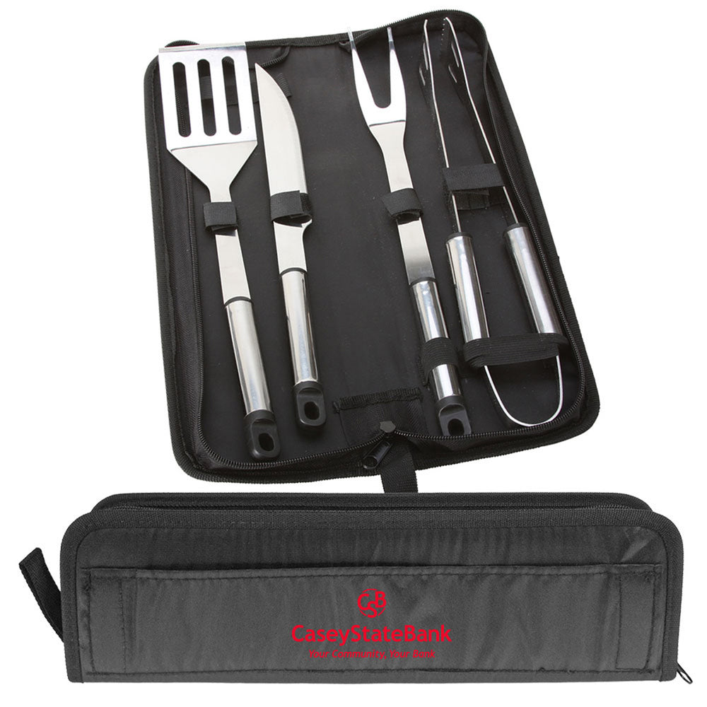 5 PC Stainless Steel BBQ Set