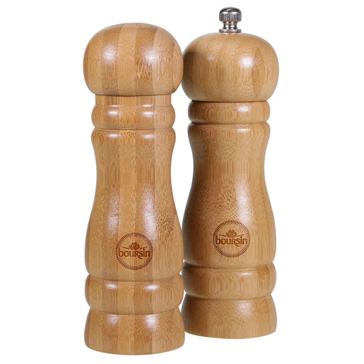 Bamboo Salt and Pepper Shakers