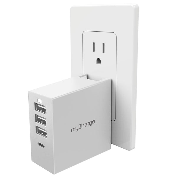 PowerBase 4 USB Charge Hub w/ QuickCharge White