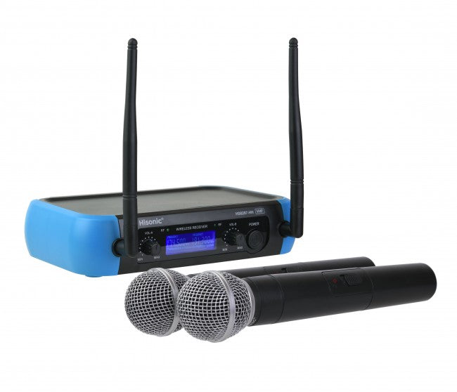 Hisonic Handheld Wireless Microphone with Two XLR Output and One RCA Jack