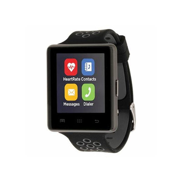 iTouch Wearables 45mm Air 2 Smart Watch Sport Perforated Strap - (Black Gray)