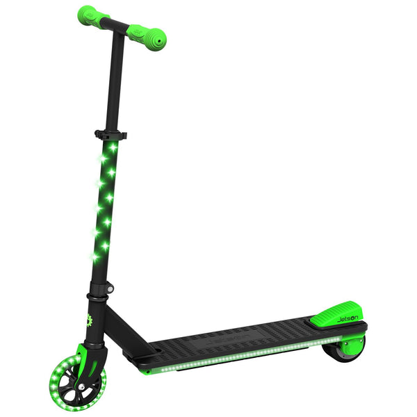 Neo Electric Kick Scooter with LED Lights-Blk/Green