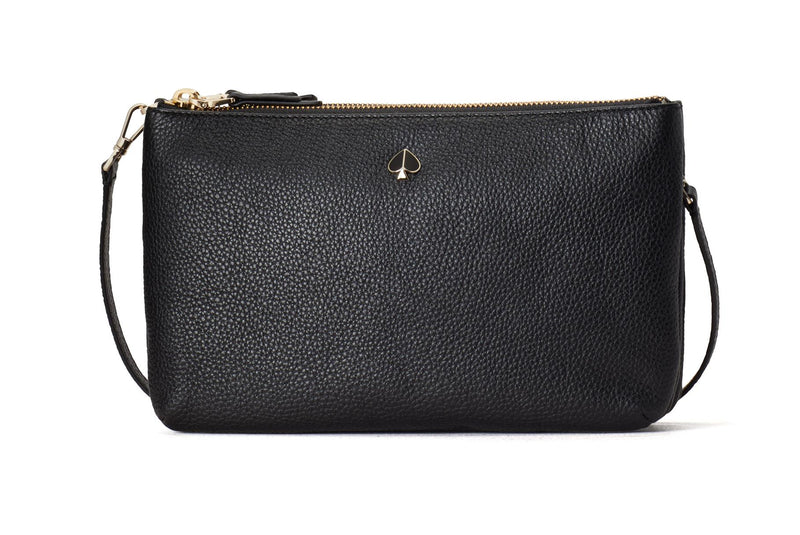 Kate Spade Polly Medium Double Gusset Crossbody - Black