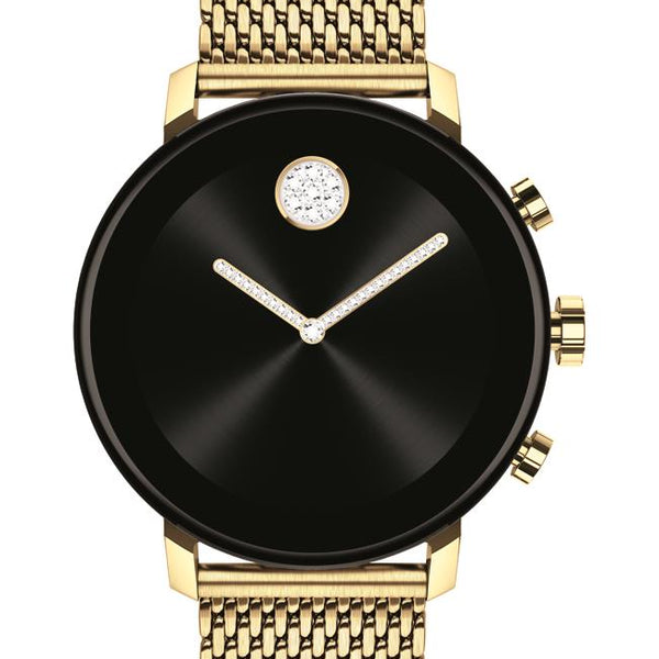 Movado Connect 2.0 Smartwatch, Unisex. Pale Yellow Gold IP Case and Bracelet.