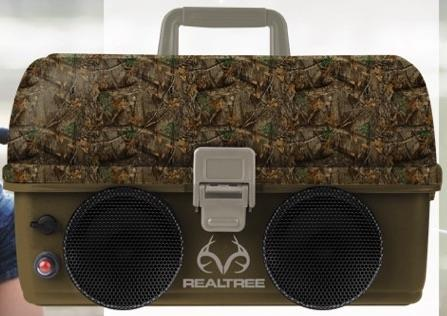 Real Tree Tackle Box w/Bluetooth Speaker